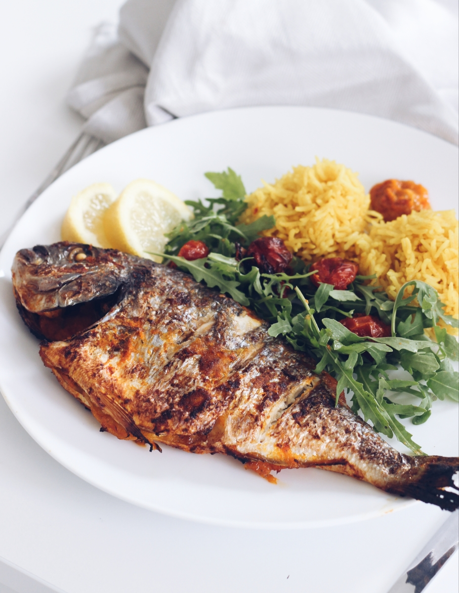 Grilled marinated sea bream ~ recipe